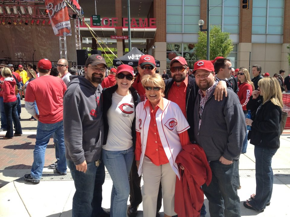 The whole family on Opening Day 2012